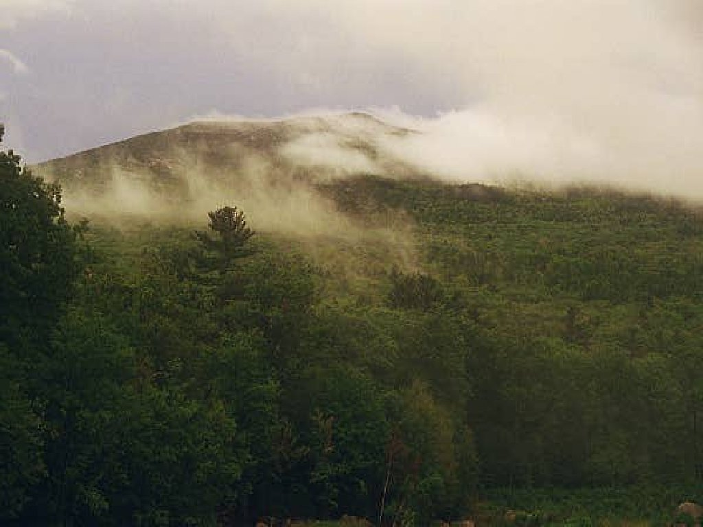 Summer view with mist on Monadnock